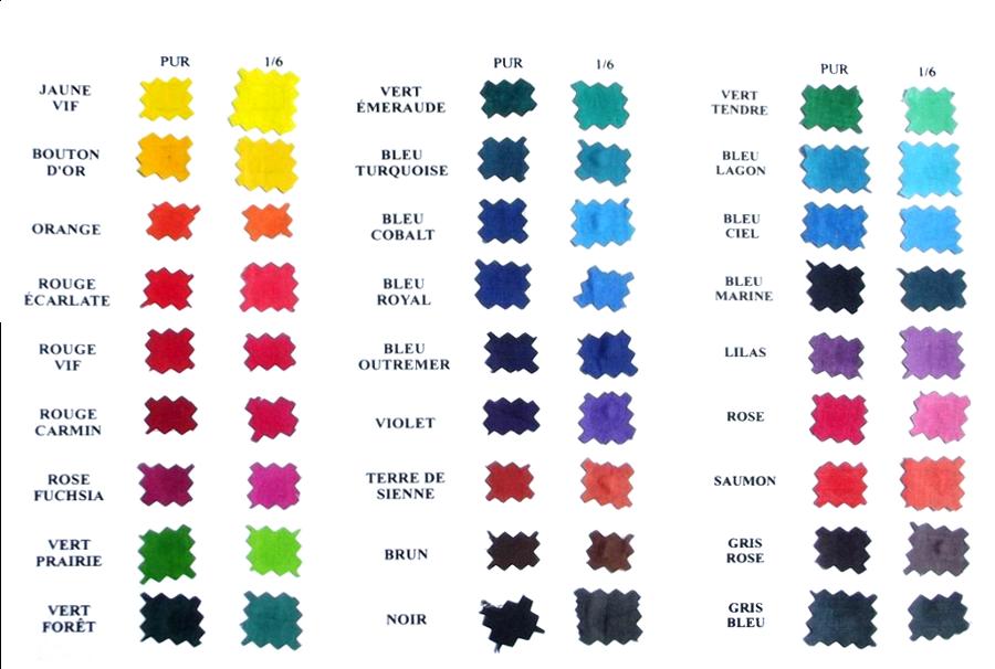 Ces couleurs sont disponibles dans toutes nos catégories de peintures